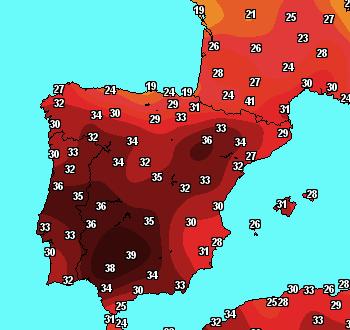 Fortes chaleurs en Espagne et Sud de la France